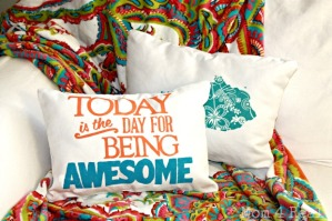 Today-is-the-day-for-being-awesome-pillow